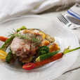 豚肉ロースト 夏野菜とキヌアのマリネ クミン風味