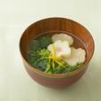菜の花とお麩のお吸い物