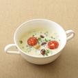 トマトと豆の豆乳スープ
