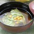 レタスの味噌汁