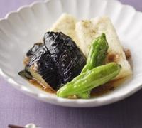 山椒香る 豆腐となすの揚げだし風