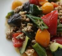 ピリ辛 旨すぎ 夏野菜たっぷりマーボー