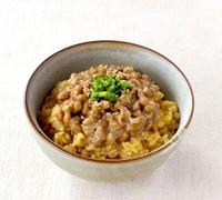 納豆のせ卵かけご飯