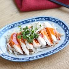 電子レンジで 韓国風蒸し鶏