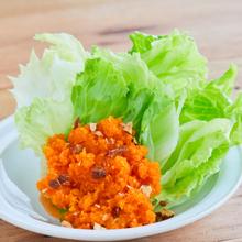 にんじんドレッシングのサラダ