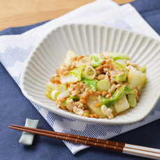 白菜と納豆のそぼろ煮