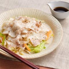 豚肉と野菜の電子レンジ蒸し
