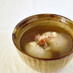 かぶのコンソメとろみスープ