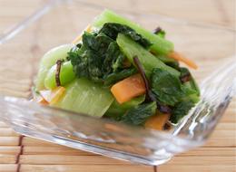 チンゲン菜の塩昆布ナムル