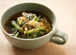ほうれん草しょうがスープ