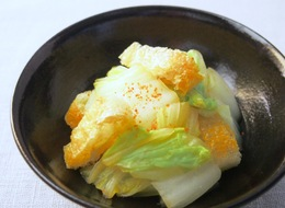 白菜とおあげさん(油揚げ)のポン酢和え