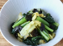 小松菜とキャベツの海苔和え