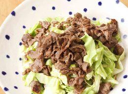 レンチンキャベツの牛肉ソース