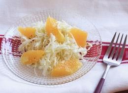 春キャベツとオレンジのサラダ