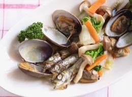 ししゃもと野菜(あさり入り)の簡単炒め料理
