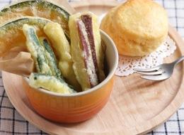 味覚障害の時の野菜の天ぷらとスコーン