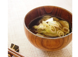 炒めなすのお味噌汁