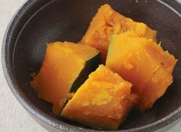 電子レンジでつくる かぼちゃの煮物