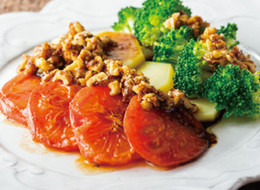 温野菜のクルミバルサミコソース