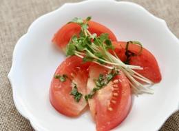 さっぱりトマトの三杯酢サラダ
