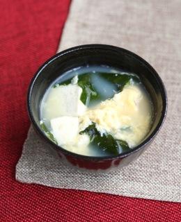 卵と豆腐の中華スープ