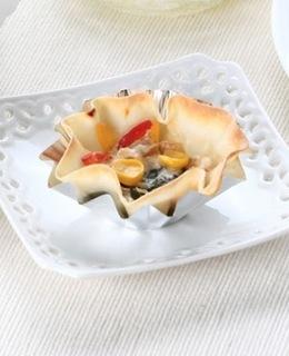 餃子の皮のヨーグルトピザ