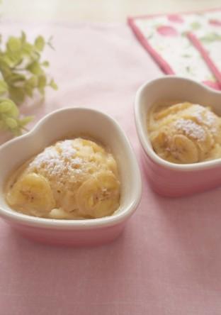 豆乳・バナナの蒸しケーキ
