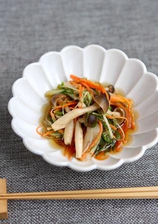 水菜と人参のレンジ煮浸し 作りおき