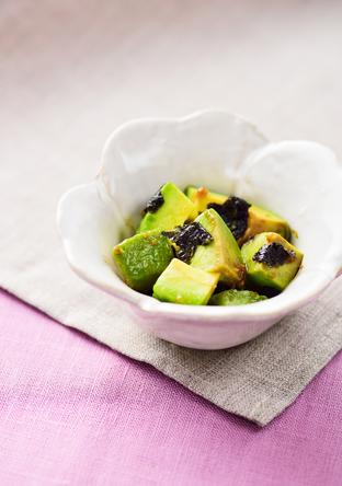 アボカドと海苔の柚子胡椒和え