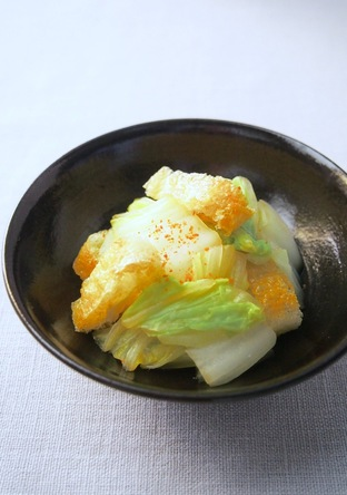 白菜と油揚げのポン酢和え