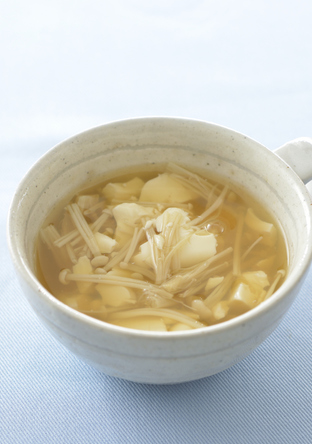 くずし豆腐の生姜スープ