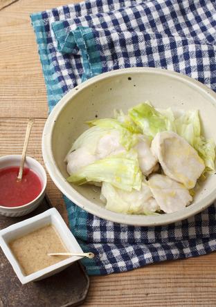 鶏むね肉とキャベツのだし蒸し煮