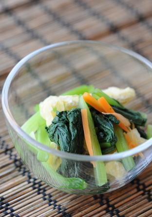小松菜と油揚げの煮浸し 和食定番