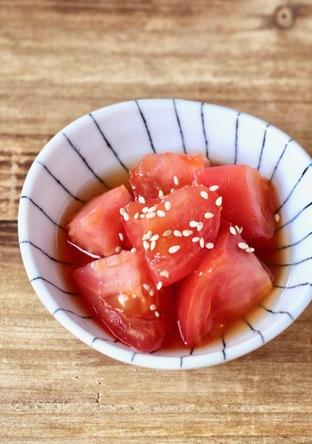 めんつゆで簡単 トマトのさっぱりサラダ