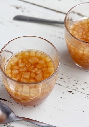 梨と紅茶のゼリー