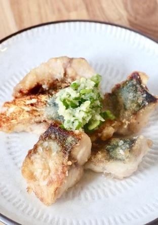 鯖の竜田揚げ焼きのねぎ生姜ソースがけ