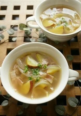 レンジで簡単さつまいものスープ