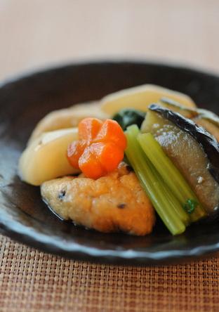 料亭風 季節野菜の煮物 薄くずあんかけ
