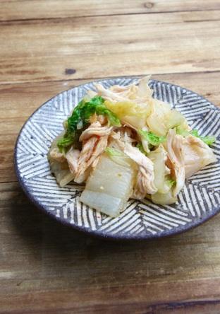 白菜とささ身のピリ辛サラダ