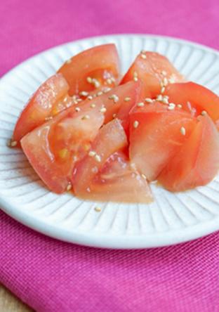 トマトの甘酢あえ