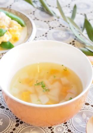 あっという間の大根入り野菜コンソメスープ