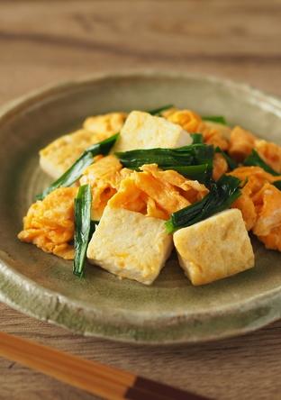 豆腐とふわふわ卵の炒めもの