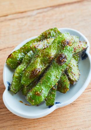 枝豆の山椒焼き