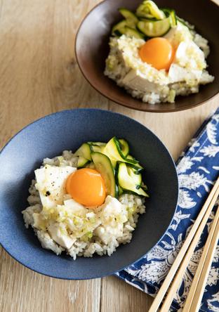 ねぎ塩豆腐丼