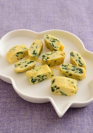 【離乳食・後期】ほうれん草の卵焼き