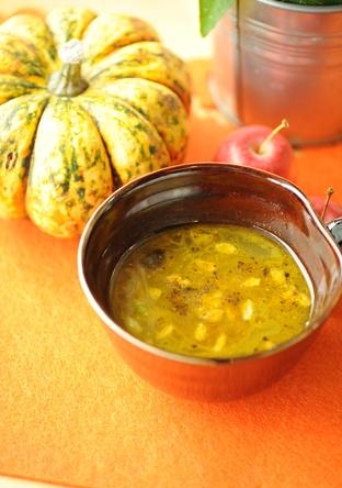 押し麦のカレースープ たっぷり生姜風味