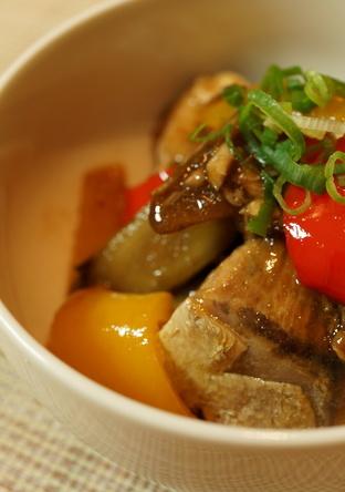ぶりと彩り野菜の南蛮炒め