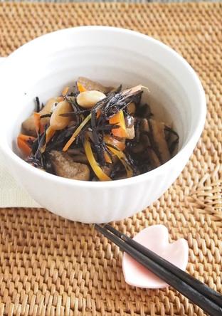 簡単ヘルシー ひじきと豆の煮物