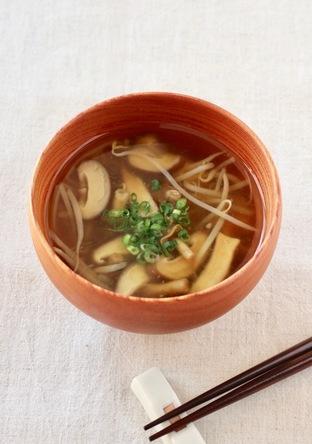 あったか きのこの和風スープ