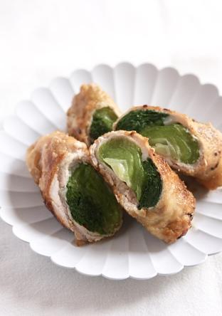 青梗菜の豚肉巻き 照り焼き